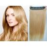 Clip in pás z pravých vlasů 53cm rovný – přírodní blond