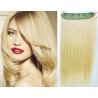 Clip in pás z pravých vlasů 53cm rovný – nejsvětlejší blond
