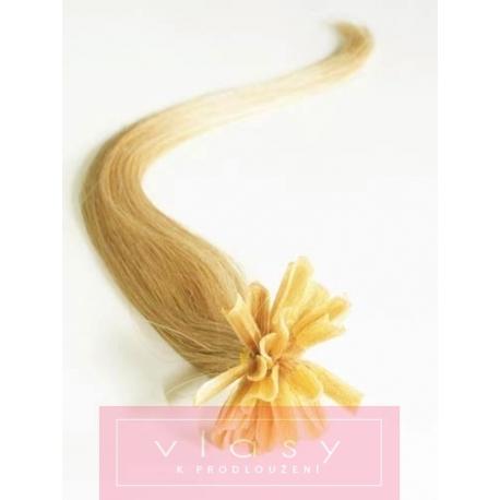 Vlasy európskeho typu k predlžovaniu keratínom 40cm – prírodná blond