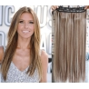 Clip in pás z pravých vlasů 63cm rovný – světlý melír