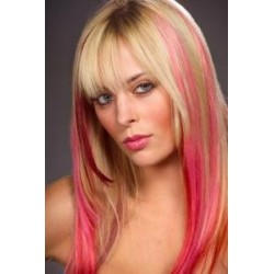 Clip in pramienok - REMY 100% ľudské vlasy – ružová