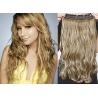 Clip in pás z pravých vlasů 63cm vlnitý – světlý melír