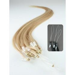 Vlasy európskeho typu k predlžovaniu micro ring 50cm – prírodná blond