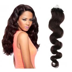 Vlnité vlasy Micro Ring / Easy Loop / Easy Ring / Micro Loop 60cm – přírodní černé