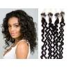 Kudrnaté vlasy Micro Ring / Easy Loop / Easy Ring / Micro Loop 50cm – přírodní černé