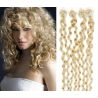 Kudrnaté vlasy Micro Ring / Easy Loop / Easy Ring / Micro Loop 50cm – nejsvětlejší blond