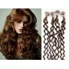 Kudrnaté vlasy Micro Ring / Easy Loop / Easy Ring / Micro Loop 60cm – světlejší hnědé