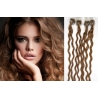 Kudrnaté vlasy Micro Ring / Easy Loop / Easy Ring / Micro Loop 60cm – světle hnědé