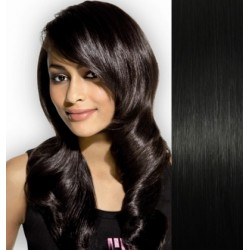 Vlasy pre metódu Pu Extension / Tapex / Tape Hair / Tape IN 40cm - čierna