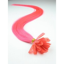 Vlasy európskeho typu k predlžovaniu keratínom 50cm – ružové