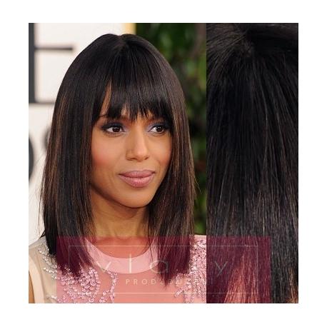 Clip in ofina - REMY 100% ľudské vlasy – prírodná čierna 4dae8f7cb1b