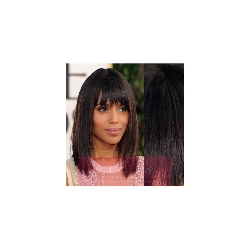 Clip in ofina - REMY 100% ľudské vlasy – prírodná čierna ... 400ef5952fc