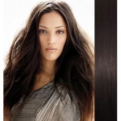 Vlasy pre metódu Pu Extension / Tapex / Tape Hair / Tape IN 50cm – prírodná čierna