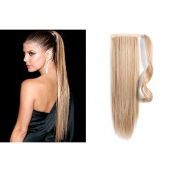 Clip in príčesok cop / vrkoč 100% ľudské vlasy 60cm – prírodná blond