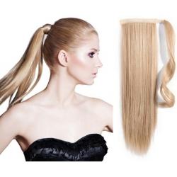 Clip in príčesok cop / vrkoč 100% japonský kanekalon 60cm – prírodná blond
