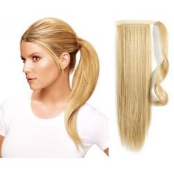 Clip in príčesok cop / vrkoč 100% japonský kanekalon 60cm – najsvetlejšia blond