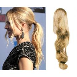 Vlnitý clip in príčesok cop / vrkoč 100% japonský kanekalon 60cm – prírodná blond