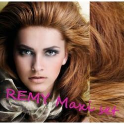 Vlnitý clip in maxi set 53cm pravé lidské vlasy – REMY 200g - SVĚTLE HNĚDÁ