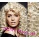 Kudrnatý clip in maxi set 53cm pravé lidské vlasy – REMY 200g - PLATINA