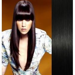 Clip in ofina - REMY 100% ľudské vlasy - čierna