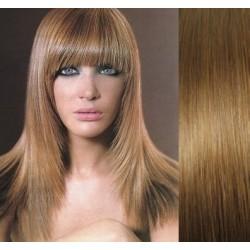 Clip in ofina - REMY 100% ľudské vlasy – svetlo hnedá