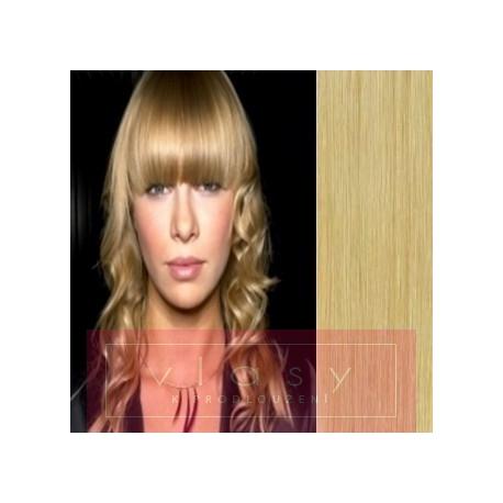 Clip in ofina – REMY 100% lidské vlasy – PŘÍRODNÍ BLOND