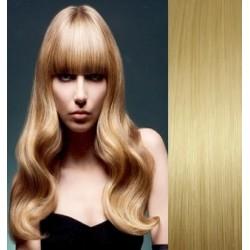 Clip in ofina - REMY 100% ľudské vlasy – svetlejšia blond