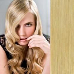Clip in vlasy 53cm 100% ľudské - REMY 100g – PRÍRODNÁ BLOND