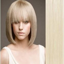 Clip in ofina - REMY 100% ľudské vlasy – platina