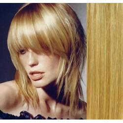 Clip in ofina - REMY 100% ľudské vlasy – prírodná / svetlejšia blond