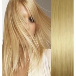 Clip in vlasy 53cm 100% ľudské - REMY 100g – SVETLEJŠIA BLOND