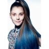 Clip in pramínek – REMY 100% lidské vlasy – modrá