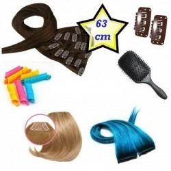 Clip in deluxe balíček - clip vlasy 63cm REMY pravé ľudské